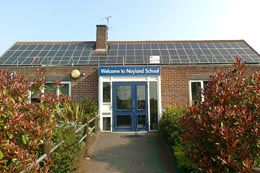 Nayland Primary School with Solar Panels