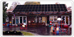Nayland School as it might look with solar panels installed.